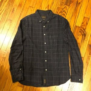 JACKS New York Flannel Button Down Navy Small